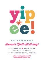 Yipee! Children's Birthday Party Invitations
