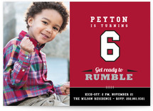 Rumble Children's Birthday Party Invitations