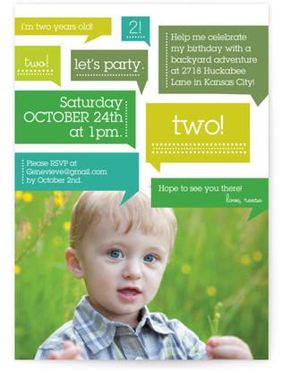 Thoughts On Birthday Boy Children's Birthday Party Invitations