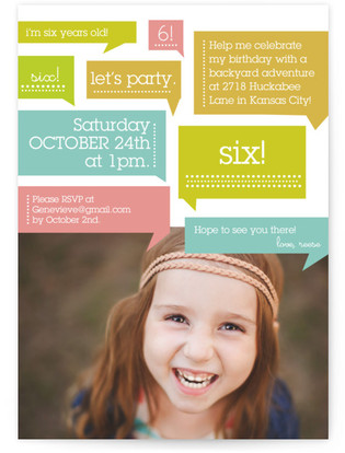 Thoughts On Birthday Girl Children's Birthday Party Invitations