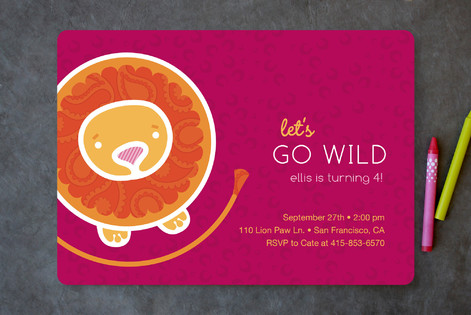The Mane Event Children's Birthday Party Invitations