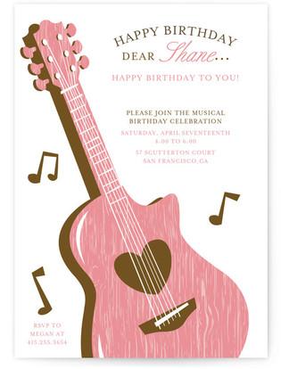musical Children's Birthday Party Invitations