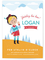 Mountaintop Birthday Children's Birthday Party Invitations