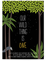 Our Wild Thing Children's Birthday Party Invitations