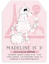 Parisian Poodle Children's Birthday Party Invitations