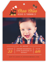 Party Train Children's Birthday Party Invitations