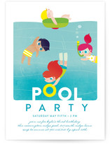 Pool Children's Birthday Party Invitations