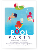 Pool Kids Party Invitations