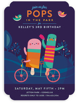 Pops In The Park Kids Party Invitations