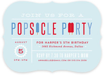 Popsicle Party Children's Birthday Party Invitations