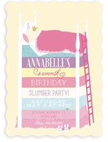 Princess And The Slumber Party Children's Birthday Party Invitations