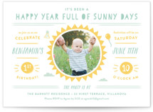 Sunny Days Kids Party Invitations