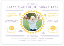 Sunny Days Children's Birthday Party Invitations