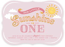 Sweet Little Sunshine Children's Birthday Party Invitations