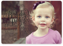 Swirls Of Fun Children's Birthday Party Invitations