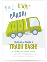 Trash Bash Children's Birthday Party Invitations