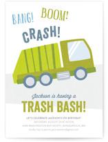 Trash Bash Kids Party Invitations