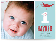 The Birthday Plane Kids Party Invitations
