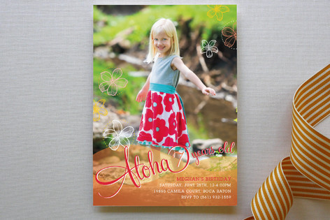 Aloha Children's Birthday Party Invitations
