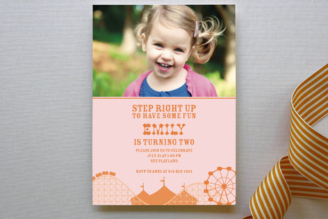Cotton Candy Children's Birthday Party Invitations
