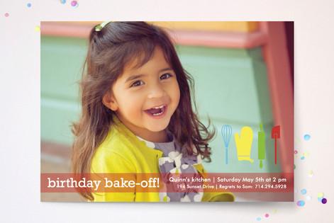 Birthday Bake-Off Children's Birthday Party Invitations