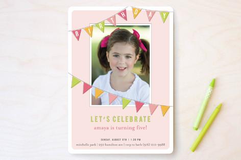Fun Flags Children's Birthday Party Invitations