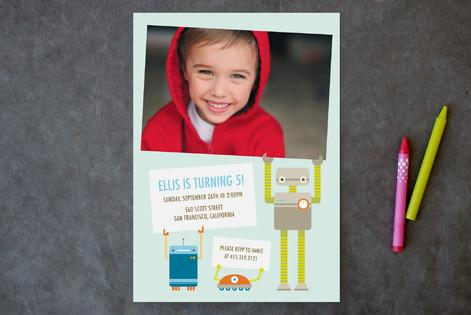 Robot Friends Children's Birthday Party Invitations