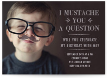 I Mustache You a Question Children's Birthday Party Invitations