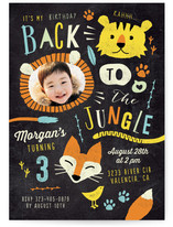 Back To The Jungle Kids Party Invitations