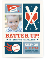 Baseball Bash Kids Party Invitations