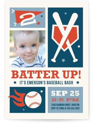 Baseball Bash Children's Birthday Party Invitations