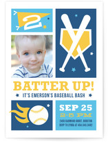 Baseball Bash Children's Birthday Party Invitations