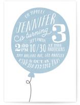 Big Balloon Children's Birthday Party Invitations