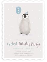 Coolest Penguin Children's Birthday Party Invitations