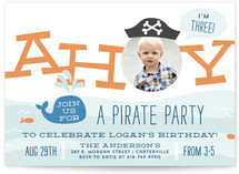 Little Scallywag Kids Party Invitations