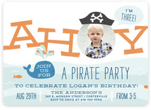 Little Scallywag Children's Birthday Party Invitations