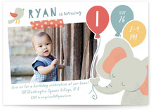 Lil Elephant Kids Party Invitations