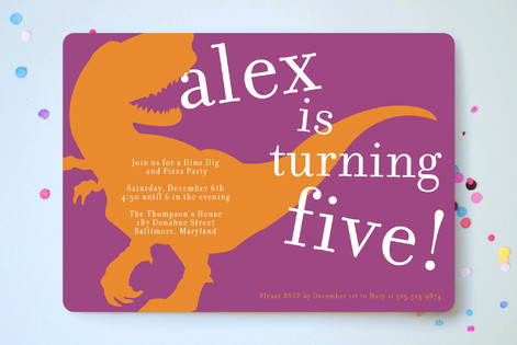 T-rex party Children's Birthday Party Invitations