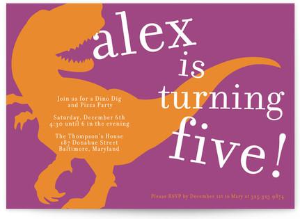 T-rex party Children's Birthday Party Invitations