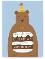 Birthday Bear Children's Birthday Party Invitations