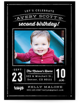 Cheerful Chalk Children's Birthday Party Invitations