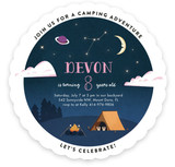 Camping Adventure Children's Birthday Party Invitations