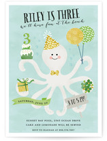 Octo Kiss Kids Party Invitations