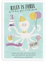 Octo Kiss Children's Birthday Party Invitations