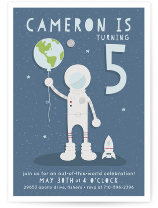 Out of This World Children's Birthday Party Invitations