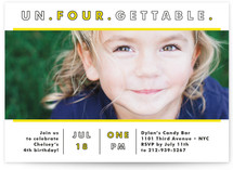 Unfourgettable Children's Birthday Party Invitations