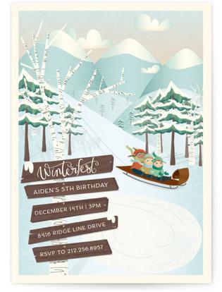 Winterfest Children's Birthday Party Invitations