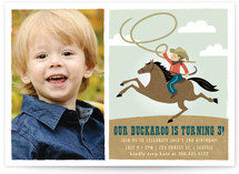 Little Buckaroo Children's Birthday Party Invitations