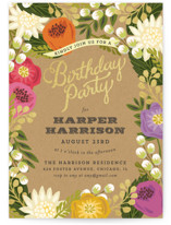 Floral Canopy Kids Party Invitations