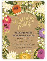 Floral Canopy Children's Birthday Party Invitations